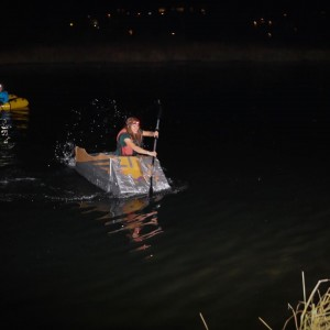 New Yorkers know a thing or two about impromptu watercraft. Kinda